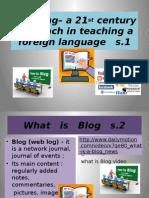 """Blogging -- a 21st century...."""