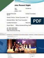 Senior Parent Night Presentation 2014 2015