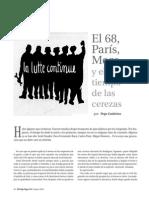 El 68, París, Moro y El Tiempo de Las Cerezas
