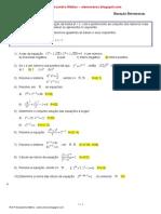 Lista Equação Exponencial 2ªsérie BLOGMAT2- 2015