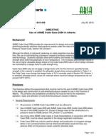 ib13-008 Use of ASME Code Case 2596