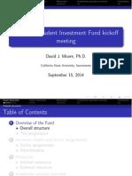 Fall 2014 Fund Introduction Presentation