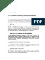 Certificación NO Declarante Año 2013