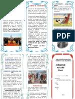 Tripotico Independencia Del Peru Primer Grado