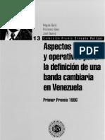 Aspectos Teóricos y Operativos Para La Definición de Una Banda Cambiaria. (1998)