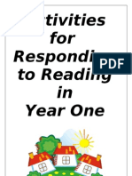 Activities for Responding to Reading in Year 1