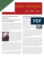 Graduate Studies Newsletter Spring 2010