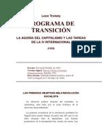 Leon Trotsky Programa de Transicion