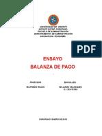La balanza de pagos es un registro de todas las transacciones monetarias producidas entre un país y el resto del mundo en un determinado periodo.doc