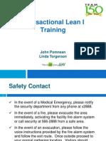 Transactional Lean I Training