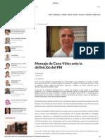 30-01-15 Mensaje de Cano Vélez ante la definición del PRI