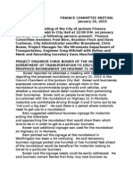 City Finance Jan. 16 Minutes