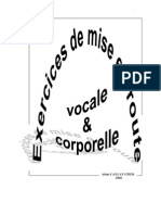 Exercices de Mise Route Vocale Et Corporelle
