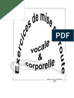 Exercices de Mise Route Vocale Et Corporelle