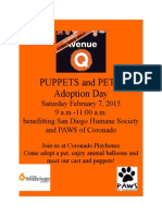 Puppets and Pets ADOPTION DAY