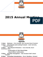 2015 Bike Cleveland Annual Meeting