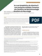 Suplementação e uso terapêutico de Vitamina D nos pascientes com esclerose múltipla