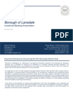 Lansdale bond refunding report