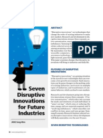 Seven Disruptive Innovations for Future Industries