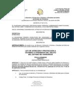 Ley de Atencion y Proteccion a Victimas u Ofendidos Del Delito Del Estado de Chihuahua