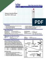 Blue-White Pitot Tube Insertion Meter