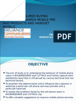 STUDY OF CONSUMER BUYING BEHAVIOUR TOWARDS MOBILE PRE-PAID PRODUCTS AND HANDSET MODELS