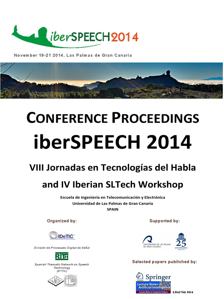 Iberspeech 2014 Online Proceedings | Cluster Analysis