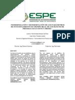 Modernización y Determinación de Los Parámetros de Funcionamiento en Tiempo Real de Los Bancos de Pruebas Ciclo Otto y Diesel
