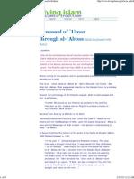 Tawassul of `Umar through al-`Abbas (Allah be pleased with them)