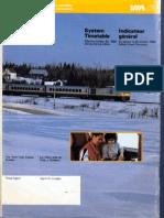 VIA Rail system timetable October 26 1986