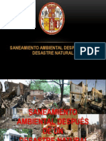 SANEAMIENTO AMBIENTAL DESPUÉS DE UN DESASTRE NATURAL