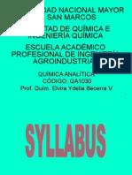 Curso Quim. Analítica Para Agroindustrial 1
