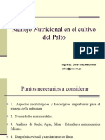 MANEJO  NUTRICIONAL  EN  EL  CULTIVO  DEL  PALTO .