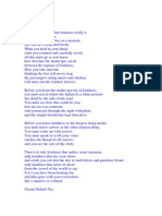 Commentary on the Poem Kindness