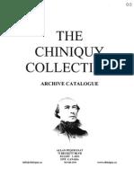 CHINIQUY CATALOGUE -  April 3 09