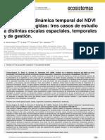 Análisis de la dinámica temporal del NDVI en áreas protegidas