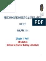 UTP - Reservoir Modelling & Simulation Course Ch 1-Part 1 - Jan 15