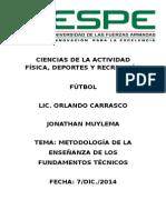 Metodología de La Enseñanza de Los Fundamentos Técnicos