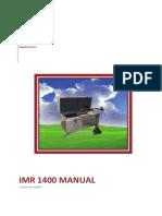 IMR1400 Manual Spanish