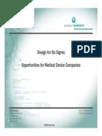 Design for Sig Sigma for Medical Device Manufacturers