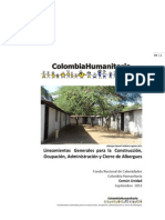 cartilla para albergues de COLOMBIA