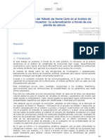 Aplicacion de Monte carlo, analisis de riesgo de los proyectos