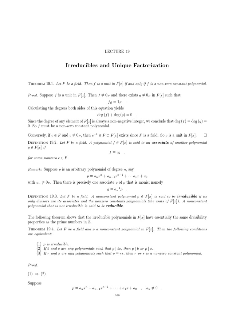 Fundamental Theorem of Algebra   Functions And Mappings