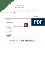 Configuración de La BIOS (Setup)