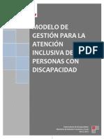 Modelo de Atención Inclusiva Para Personas Con Discapacidad
