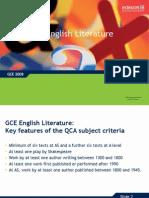 Gce English Literature