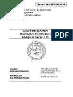 Clave 114 1 MatemáticaIntermedi2!00!2012