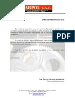 Carta de Presentacion Carpol SAC