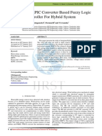 A Study of SEPIC Converter Based Fuzzy Logic Controller For Hybrid System