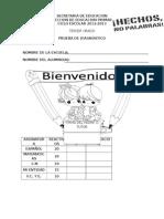 Examen de diagnóstico de 3er grado primaria